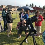Mackay elementary's 8-inch SCT telescope was a big hit.